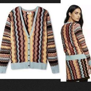 New Missoni For Target Zig Zag sweater cardigan XS